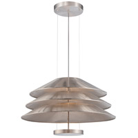 Nuvo Evol 1 Light Pendant in Satin Steel 62/467