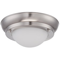 Nuvo Lighting Poke 1 Light Flush Mount in Brushed Nickel 62/511