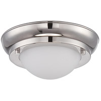 Nuvo Lighting Poke 1 Light Flush Mount in Polished Nickel 62/513