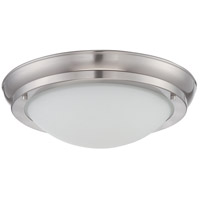 Nuvo Lighting Poke 1 Light Flush Mount in Brushed Nickel 62/517