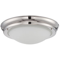 Nuvo Lighting Poke 1 Light Flush Mount in Polished Nickel 62/519