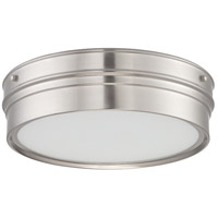 Nuvo Lighting Ben 1 Light Flush Mount in Brushed Nickel 62/521
