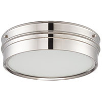 Nuvo Lighting Ben 1 Light Flush Mount in Polished Nickel 62/523