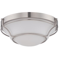 Nuvo Lighting Baker 1 Light Flush Mount in Brushed Nickel 62/527