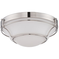 Nuvo 62/529 Baker LED 13 inch Polished Nickel Flush Mount Ceiling Light