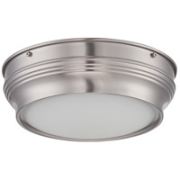 Nuvo Lighting Lark 1 Light Flush Mount in Brushed Nickel 62/531
