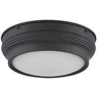 Nuvo Lighting Lark 1 Light Flush Mount in Aged Bronze 62/532