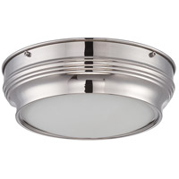 Nuvo Lighting Lark 1 Light Flush Mount in Polished Nickel 62/533
