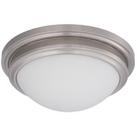 Nuvo Lighting Corry 1 Light Flush Mount in Brushed Nickel 62/534