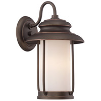 Nuvo Lighting Bethany 1 Light Outdoor Wall Light in Mahogany Bronze 62/631