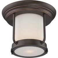 Nuvo 62/633 Bethany LED 10 inch Mahogany Bronze Flush Mount Ceiling Light