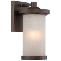 Diego LED 10 inch Mahogany Bronze Outdoor Wall Light