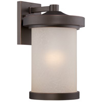 Nuvo Lighting Diego 1 Light Outdoor Wall Light in Mahogany Bronze 62/642