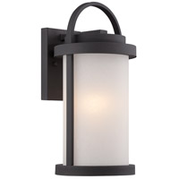 Willis LED 15 inch Textured Black Outdoor Wall Light