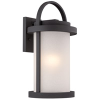 Willis LED 18 inch Textured Black Outdoor Wall Light