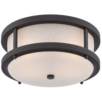 Willis LED 14 inch Textured Black Outdoor Flush Mount