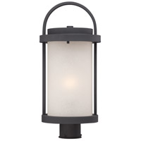 Nuvo Lighting Willis 1 Light Post Light in Textured Black 62/654