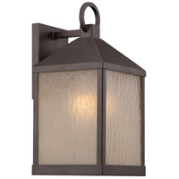 Nuvo Lighting Haven 1 Light Outdoor Wall Light in Mahogany Bronze 62/661