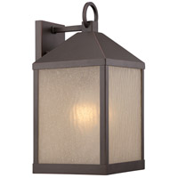 Haven LED 17 inch Mahogany Bronze Outdoor Wall Light