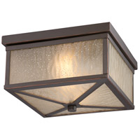 Nuvo Lighting Haven 2 Light Outdoor Flush Mount in Mahogany Bronze 62/663