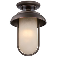 Nuvo Lighting Tulsa 1 Light Outdoor Flush Mount in Mahogany Bronze 62/673