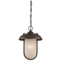 Nuvo Lighting Tulsa 1 Light Outdoor Hanging Light in Mahogany Bronze 62/675