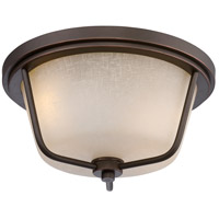 Tolland LED 13 inch Mahogany Bronze Outdoor Flush Mount