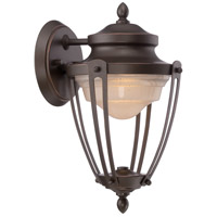 Nuvo Lighting Cole 1 Light Outdoor Wall Light in Mahogany Bronze 62/691