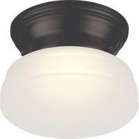 Nuvo 62/712 Bogie LED 6 inch Aged Bronze Flush Mount Ceiling Light