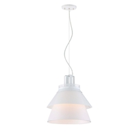 Nuvo 62/782 Kyto LED 10 inch White Pendant Ceiling Light