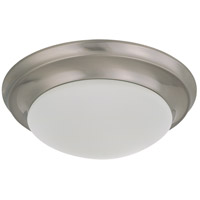 Nuvo 62/786 Signature 1 Light 12 inch Brushed Nickel Flush Mount Ceiling Light