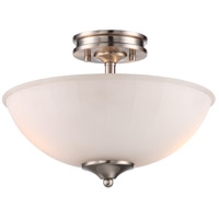 Nuvo 62/808 Tess LED 13 inch Brushed Nickel Semi Flush Mount Ceiling Light