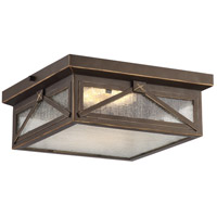 Roxton LED 12 inch Umber Bay Outdoor Flush Mount