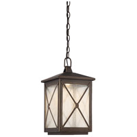 Roxton LED 9 inch Umber Bay Outdoor Hanging Lantern
