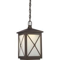 Nuvo 62/814 Roxton LED 9 inch Umber Bay Outdoor Hanging Lantern