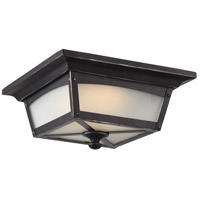 Essex LED 11 inch Sterling Black Outdoor Flush Mount