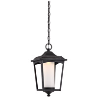 Nuvo 62/824 Essex LED 8 inch Sterling Black Outdoor Hanging Lantern