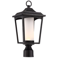 Essex LED 18 inch Sterling Black Outdoor Post Lantern