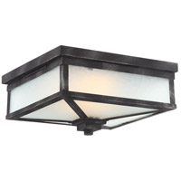 Winthrop LED 11 inch Iron Black Outdoor Flush Mount