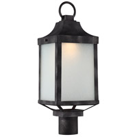 Winthrop LED 21 inch Iron Black Post Lantern