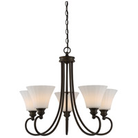 Tess LED 27 inch Aged Bronze Chandelier Ceiling Light