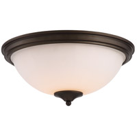 Nuvo 62/909 Tess LED 13 inch Aged Bronze Flush Mount Ceiling Light
