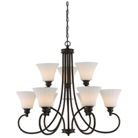 Tess LED 33 inch Aged Bronze Chandelier Ceiling Light
