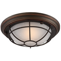 Bungalow LED 13 inch Mahogany Bronze Outdoor Flush Mount