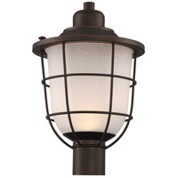 Nuvo 62/945 Bungalow LED 18 inch Mahogany Bronze Post Lantern