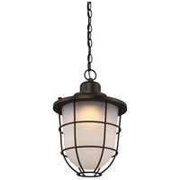 Bungalow LED 11 inch Mahogany Bronze Outdoor Hanging Lantern