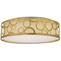 Nuvo 62/986R1 Brentwood LED 15 inch Natural Brass Flush Mount Ceiling Light