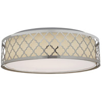 Nuvo 62/989R1 Brentwood LED 15 inch Polished Nickel Flush Mount Ceiling Light