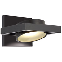 Nuvo 62/993 Hawk 1 Light 7 inch Textured Black Wall Sconce Wall Light