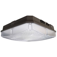 Nuvo 65/140 Signature LED 9 inch Bronze Outdoor Flush Mount